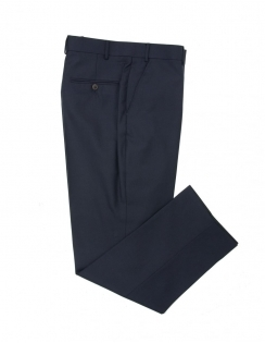 Navy Sharkskin Pure New Wool Suit Trouser