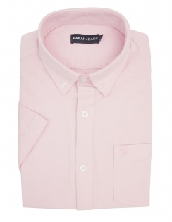 Thompson Stretch Oxford Half Sleeve Shirt - Pink