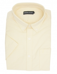 Thompson Stretch Oxford Half Sleeve Shirt - Yellow