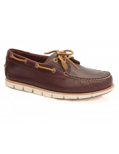 Tidelands Sensorflex 2 Eye Leather Boat Shoe - Redwood Brando