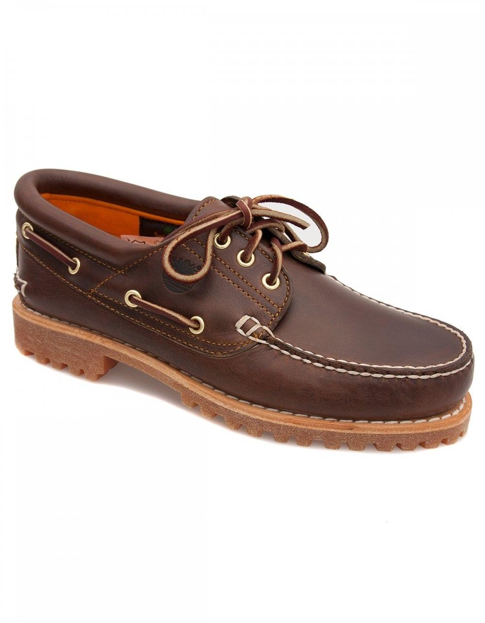 Traditional 3 Eye Lug Boat Shoe Brown