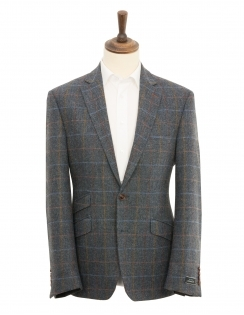 Valentino Pure Wool Check Jacket - Blue