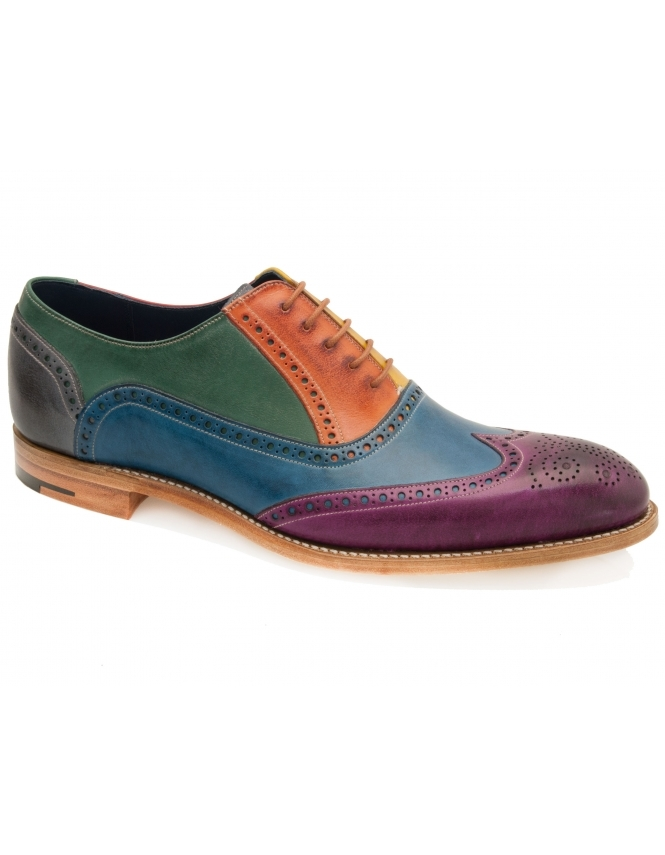 Barker Valiant Hand Painted Leather Brogue - Multi Coloured
