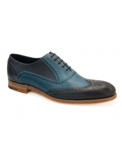 Valiant Valiant Hand Painted Leather Brogue - Navy/Blue