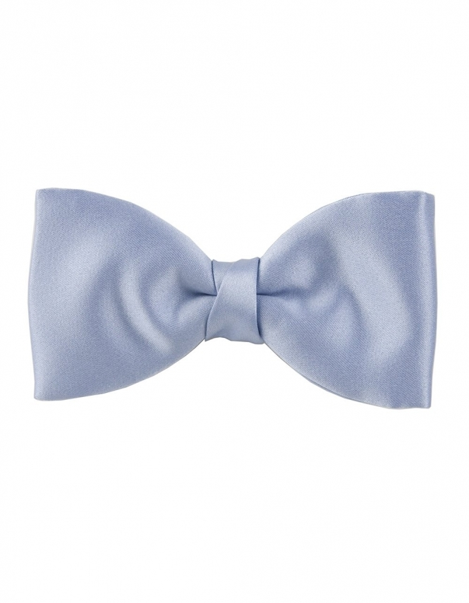 Van Buck Satin Bow Tie in Mill Blue