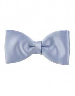Satin Bow Tie in Mill Blue