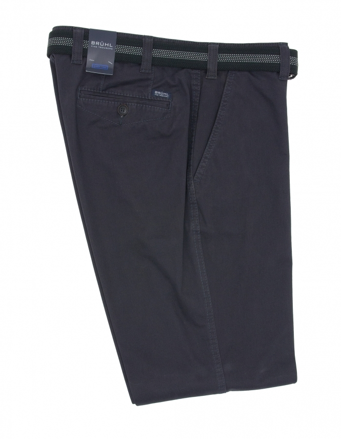Bruhl Venice B Cotton Chino With Stretch Waistband - Navy