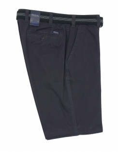 Venice B Cotton Chino With Stretch Waistband - Navy