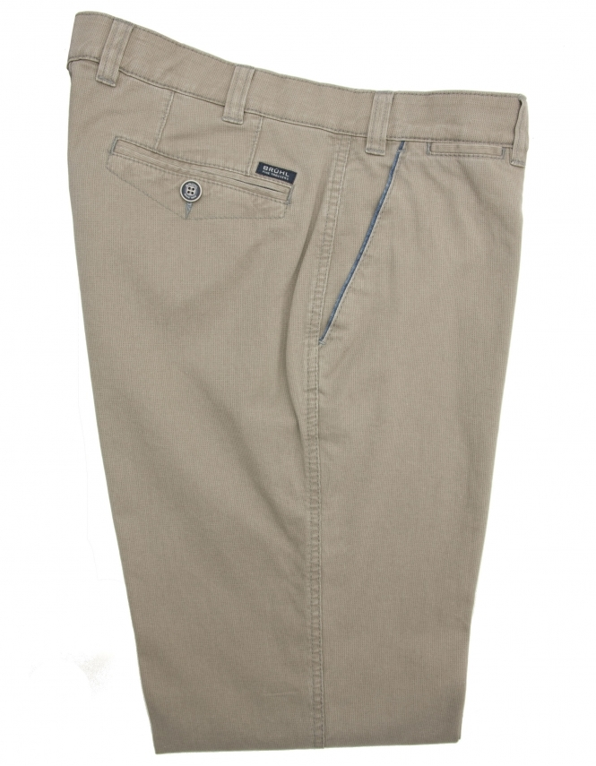 Bruhl Venice Cotton Chino With Stretch Waistband - Beige