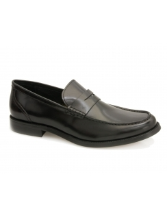 Wallace Calf Leather Loafer - Black