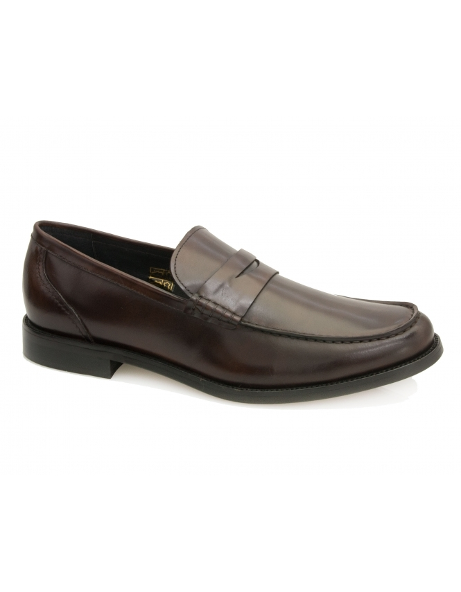 John White Wallace Calf Leather Loafer - Brown