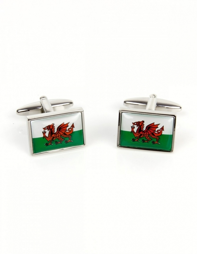 Dalaco Welsh Dragon Flag Cufflinks