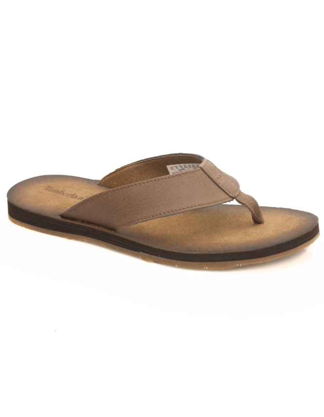 Timberland Wild Dunes leather Flip Flop - Potting Soil Brown