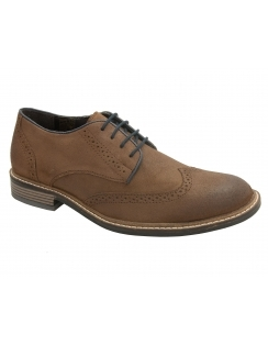 Willington Waxy Leather Brogue - Brown