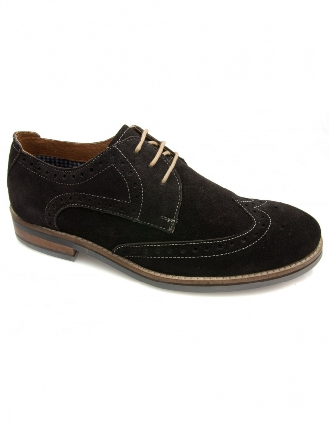 Lotus Zachary Suede Lace Up Shoe - Brown