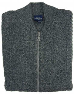 Zip Up College Cardigan - Grey